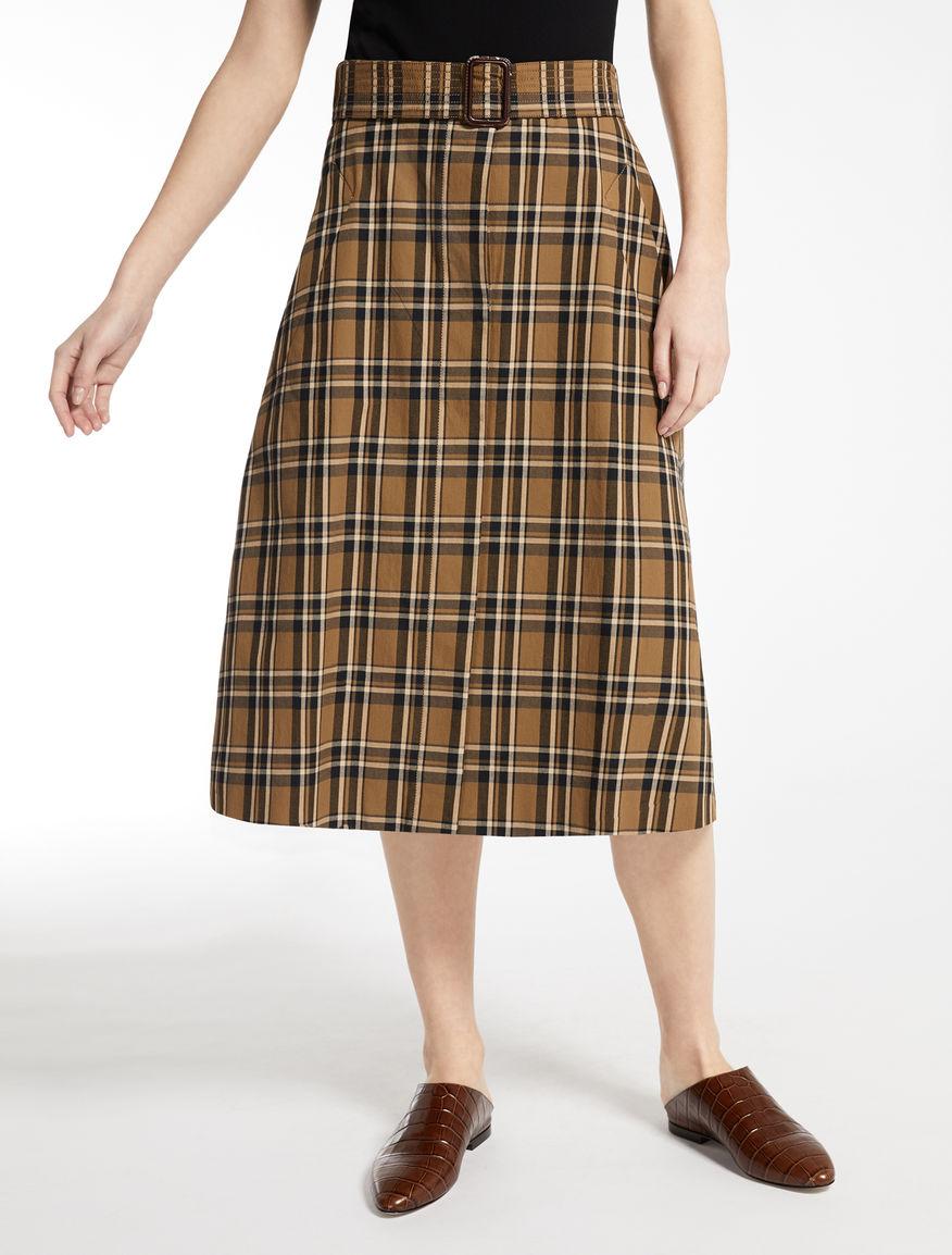 Falda de sarga en algodón