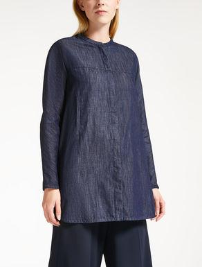 Camisa en denim de algodón