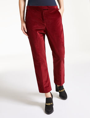 Cotton velvet trousers