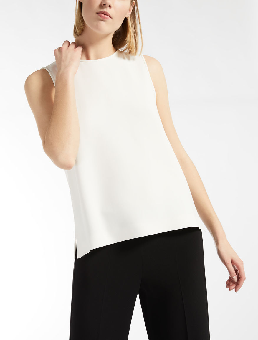 Stretch viscose cady top