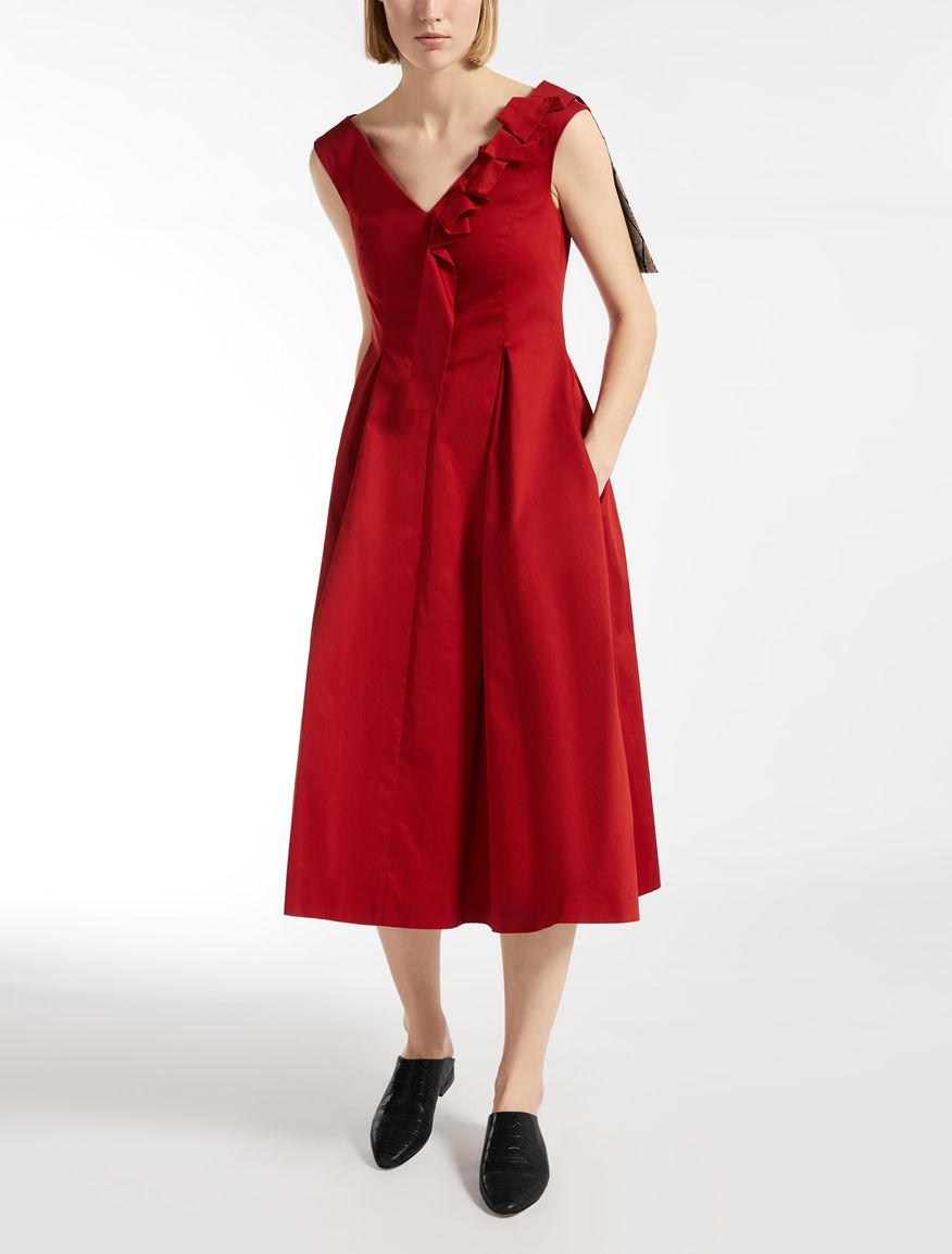 Vestido de raso de algodón