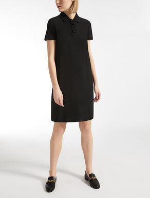 Stretch viscose cady dress