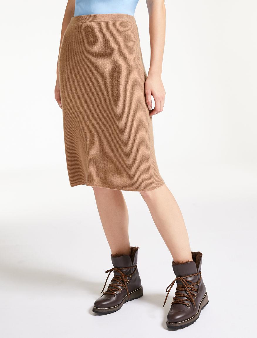 ウール カシミヤニット スカート