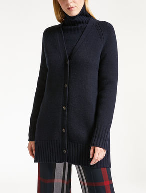 Cashmere and wool yarn cardigan