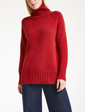 Wool and cashmere polo neck jumper