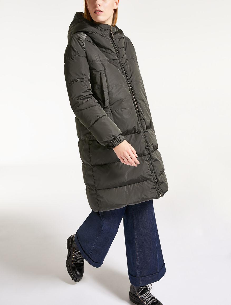 리버서블 후드 다운 재킷
