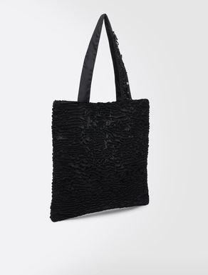 Karakul-effect fabric shopper
