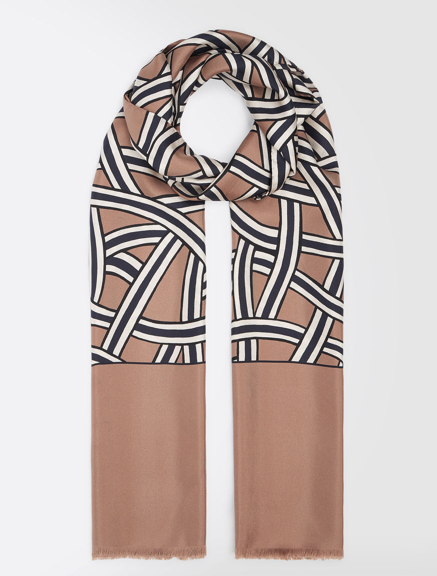 Patterned silk stole