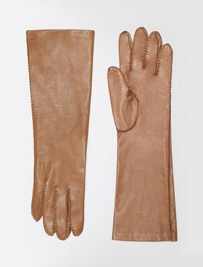 Lange Handschuhe aus Nappaleder