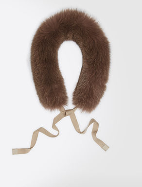 Fox-fur hood trim