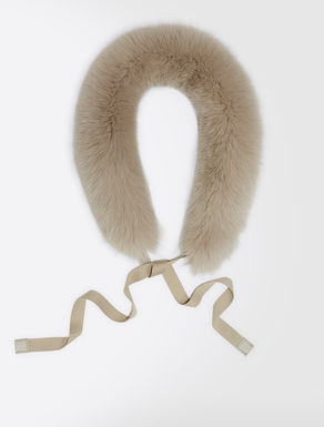 Fox-fur hood trim