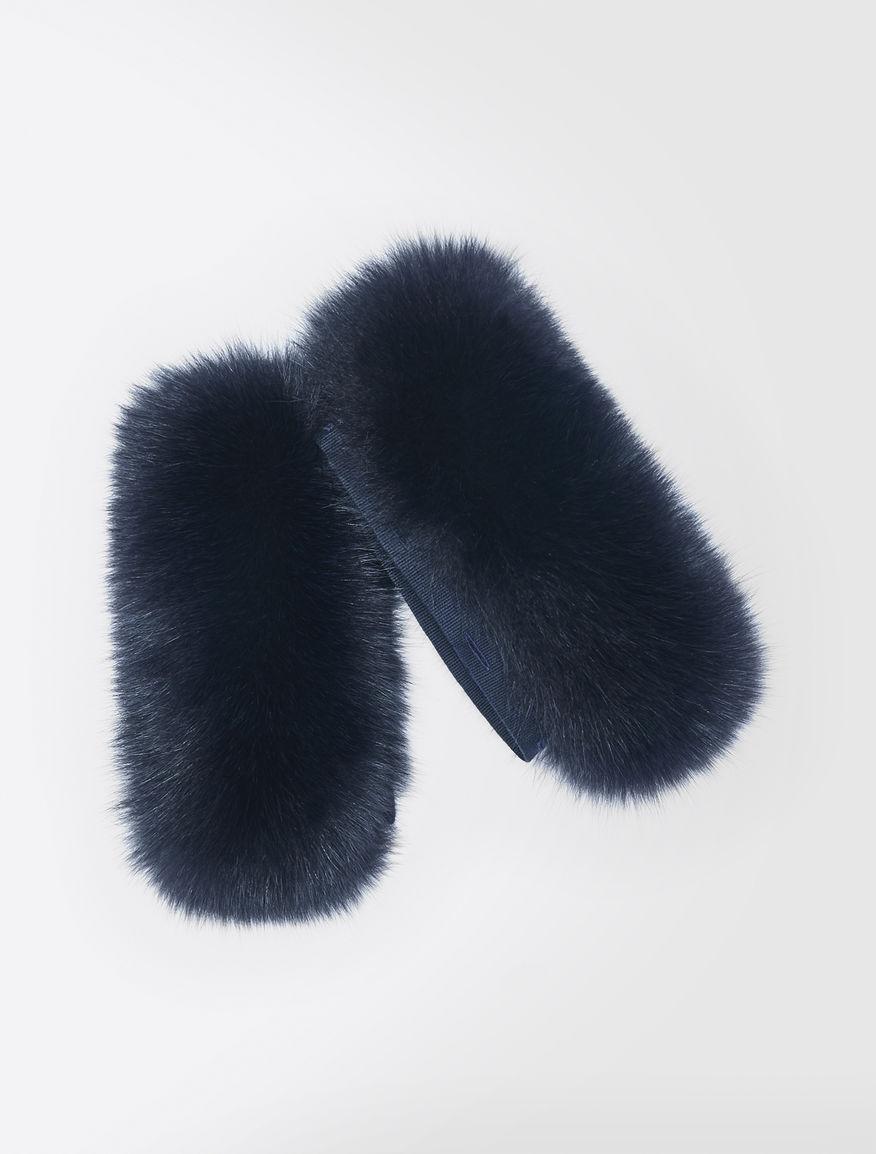 Fox-fur cuffs