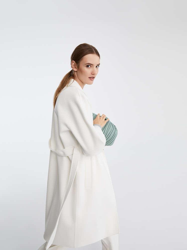Wool and angora coat