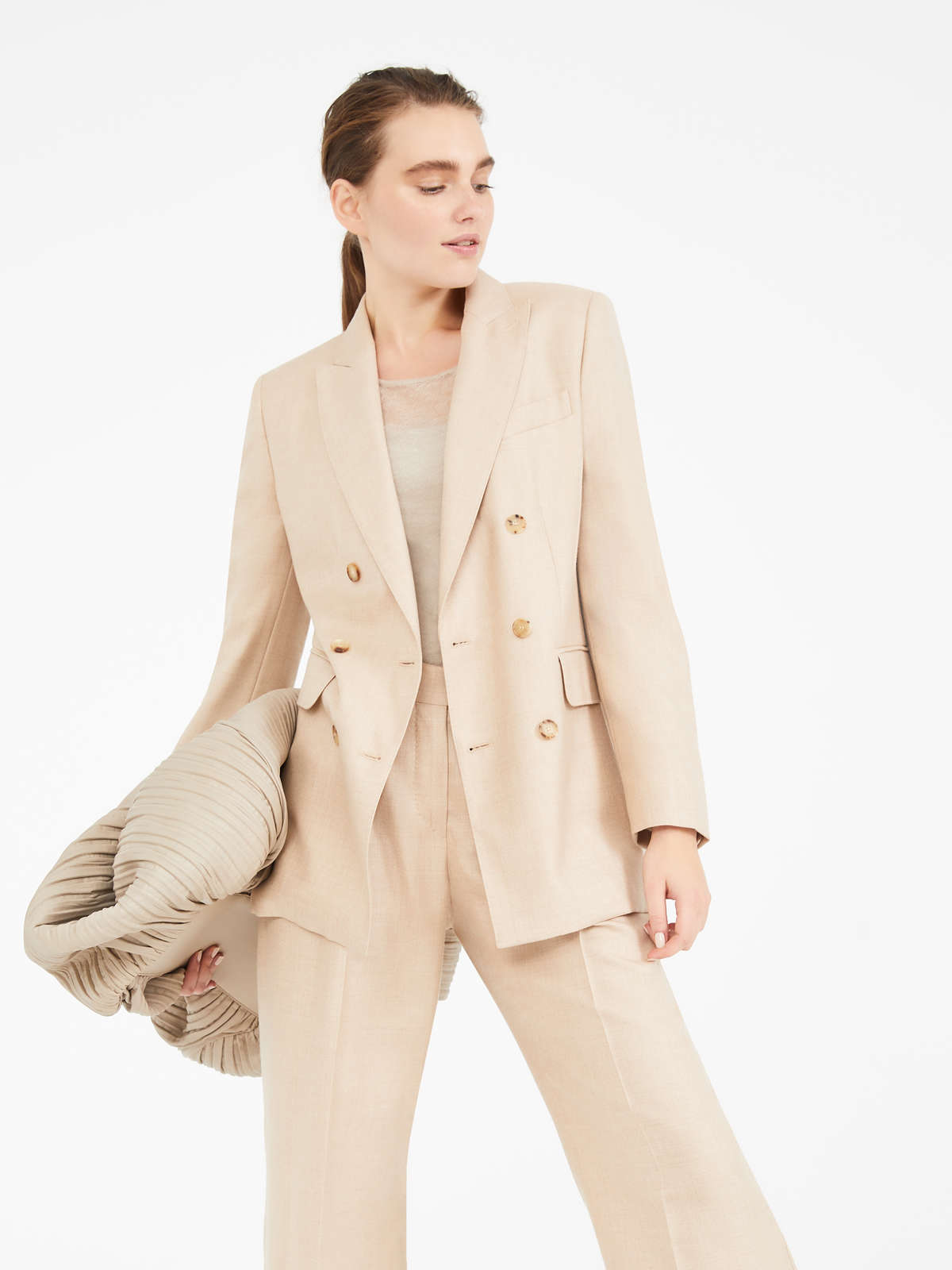 Camel and silk blazer