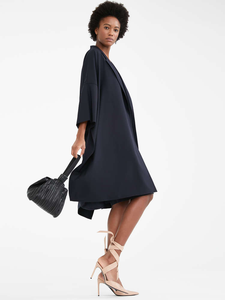 Wool twill duster coat
