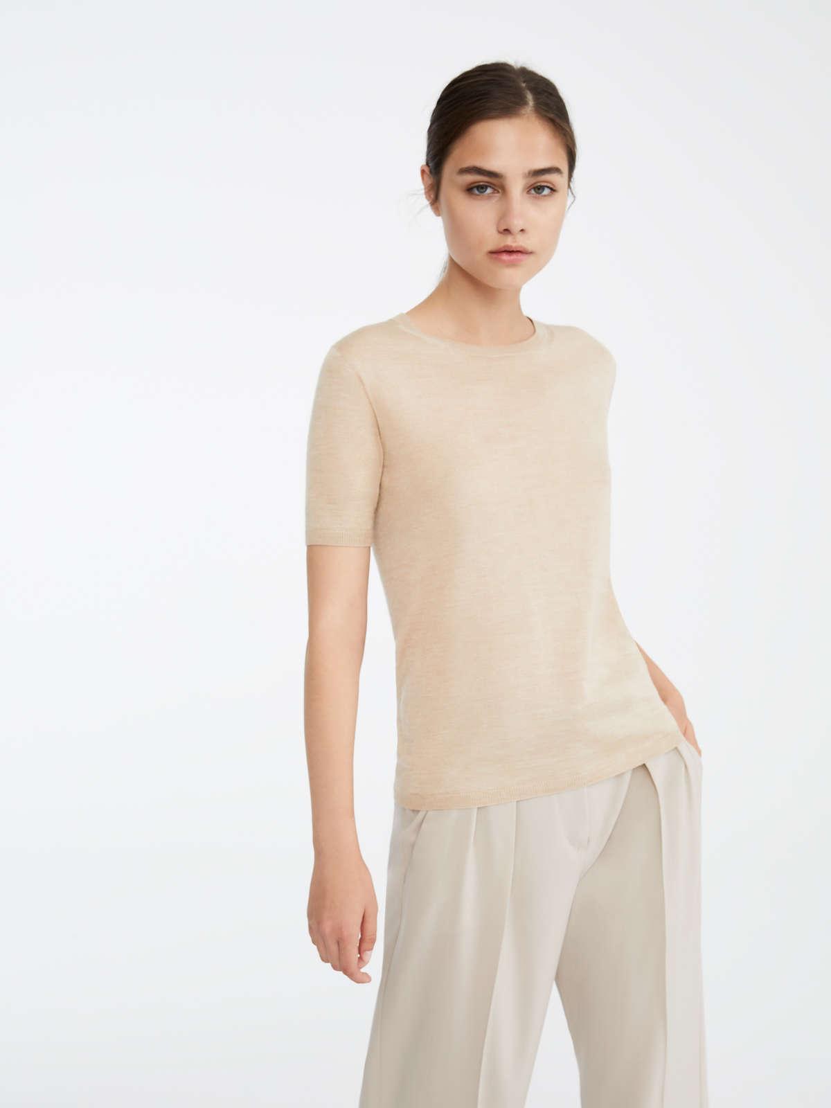 Max Mara - Camiseta en pelo de camello y seda - 2