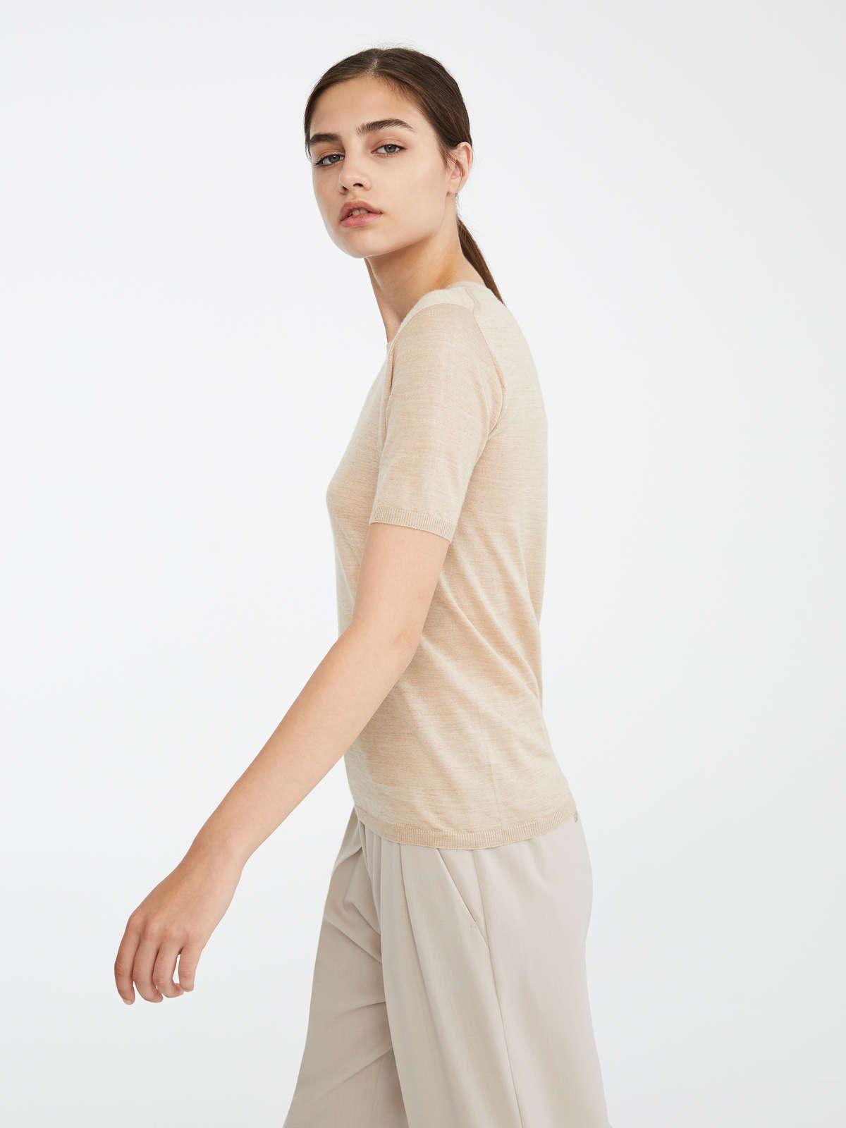 Max Mara - Camiseta en pelo de camello y seda - 3