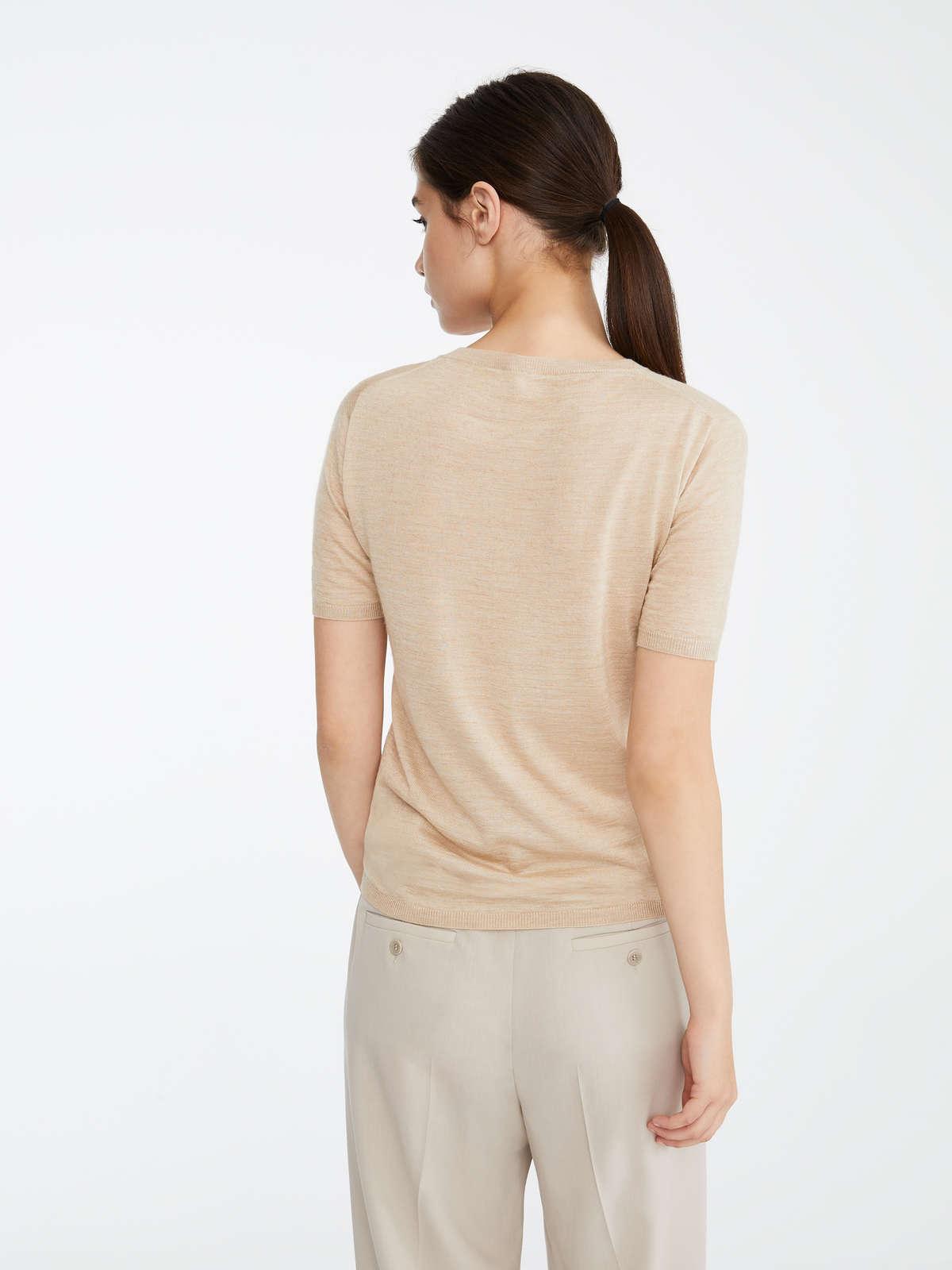 Max Mara - Camiseta en pelo de camello y seda - 4