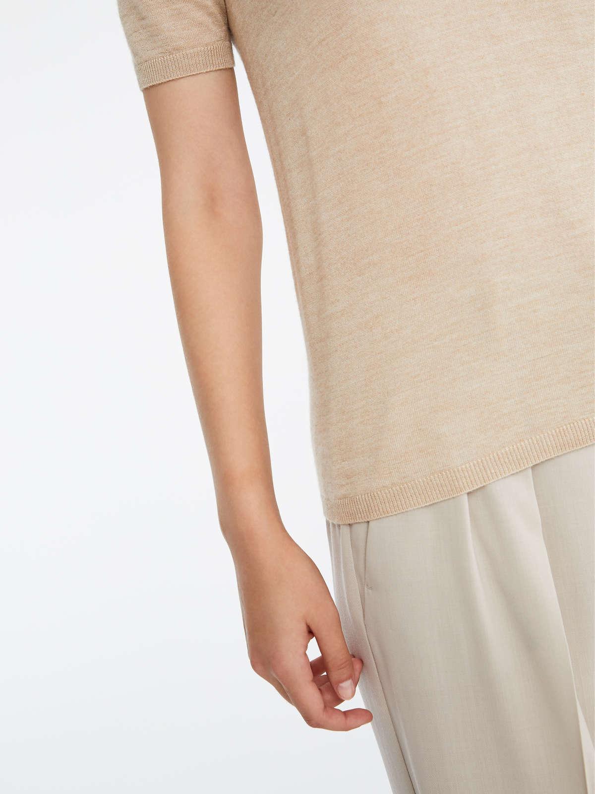 Max Mara - Camiseta en pelo de camello y seda - 6
