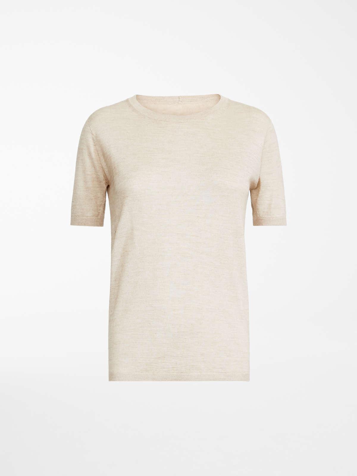 Max Mara - Camiseta en pelo de camello y seda - 8