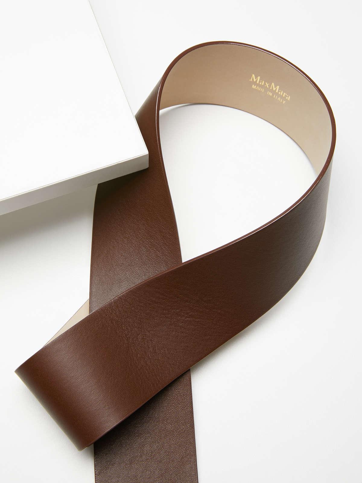 Max Mara - Leather bustier belt - 3