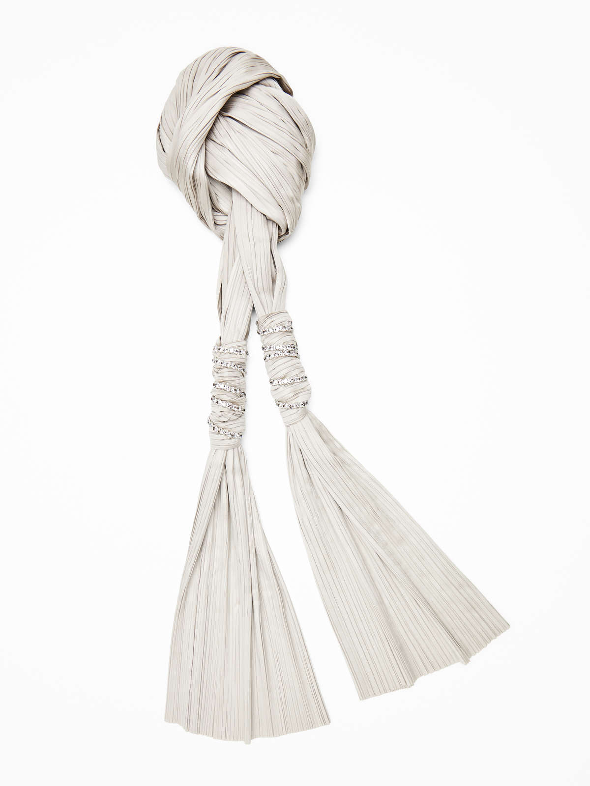 Technical satin scarf