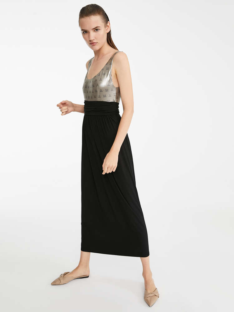 Viscose crepe skirt