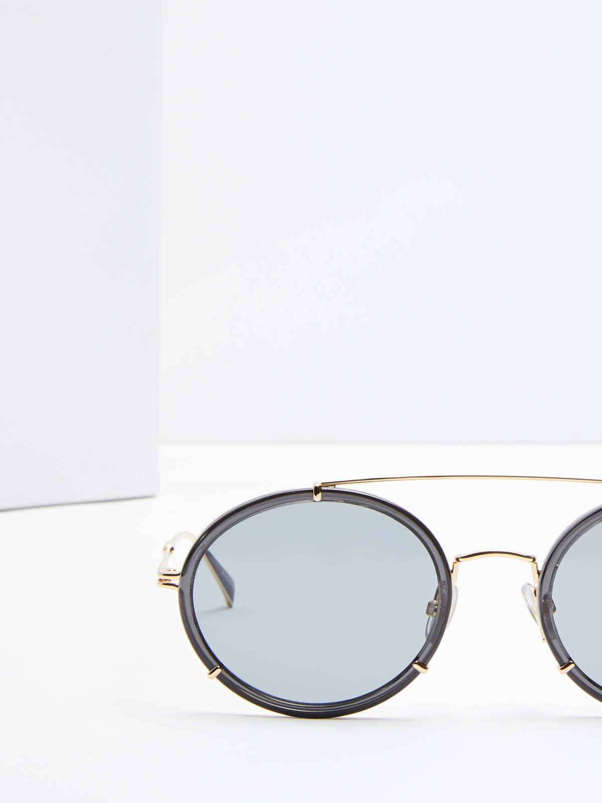 Max Mara - Schmale ovale Sonnenbrille - 4