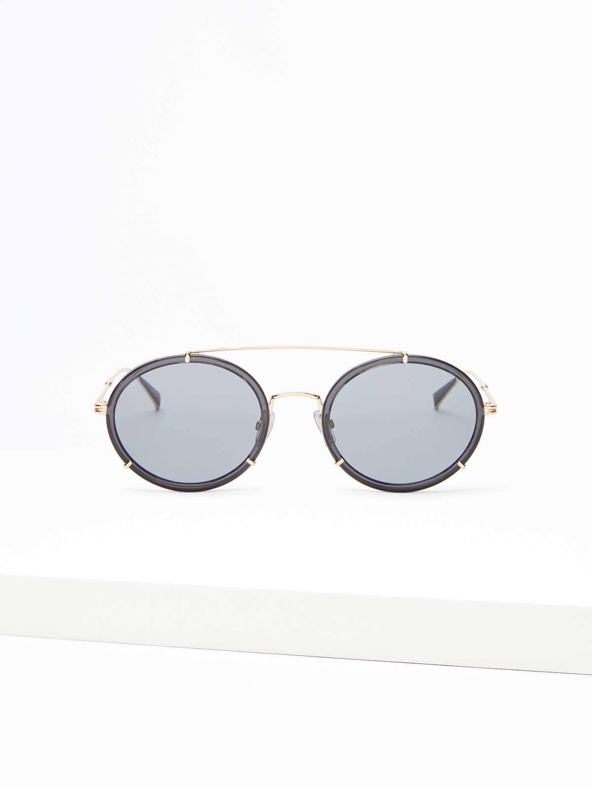 Max Mara - Schmale ovale Sonnenbrille - 6