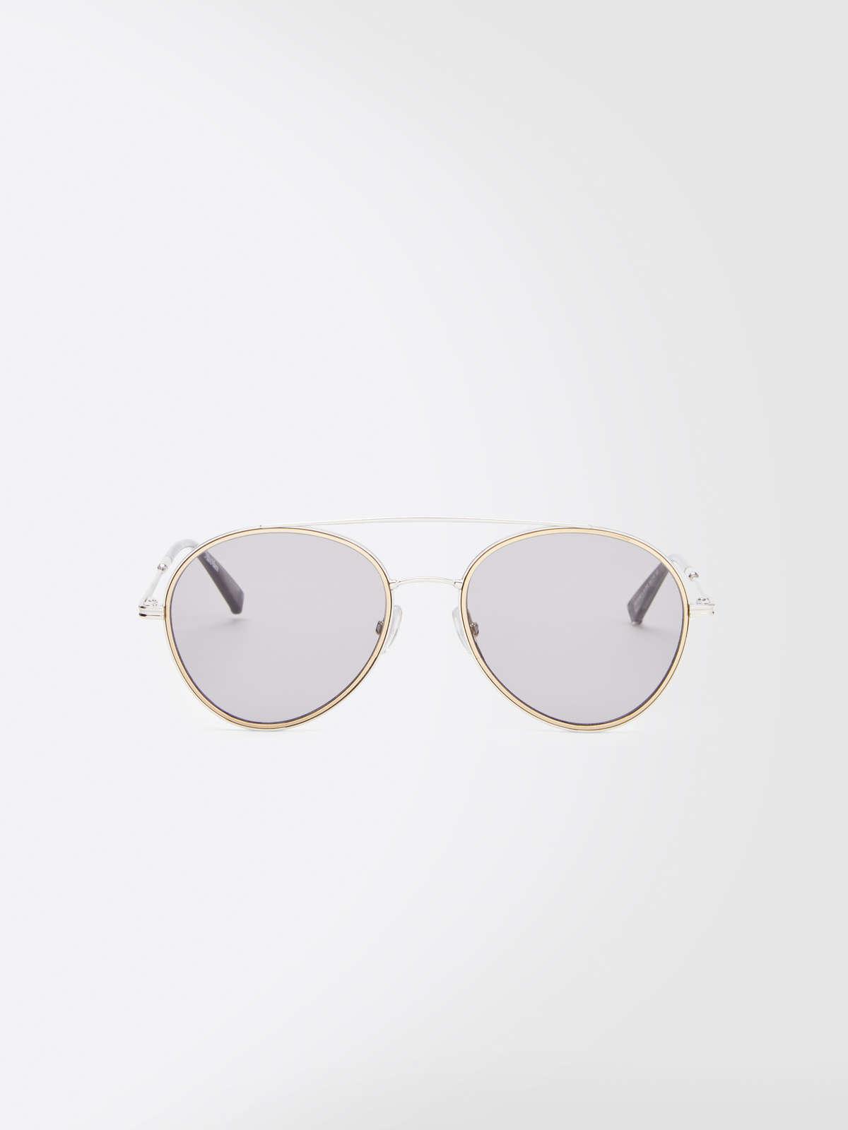 Max Mara - Schmale Piloten-Sonnenbrille - 5