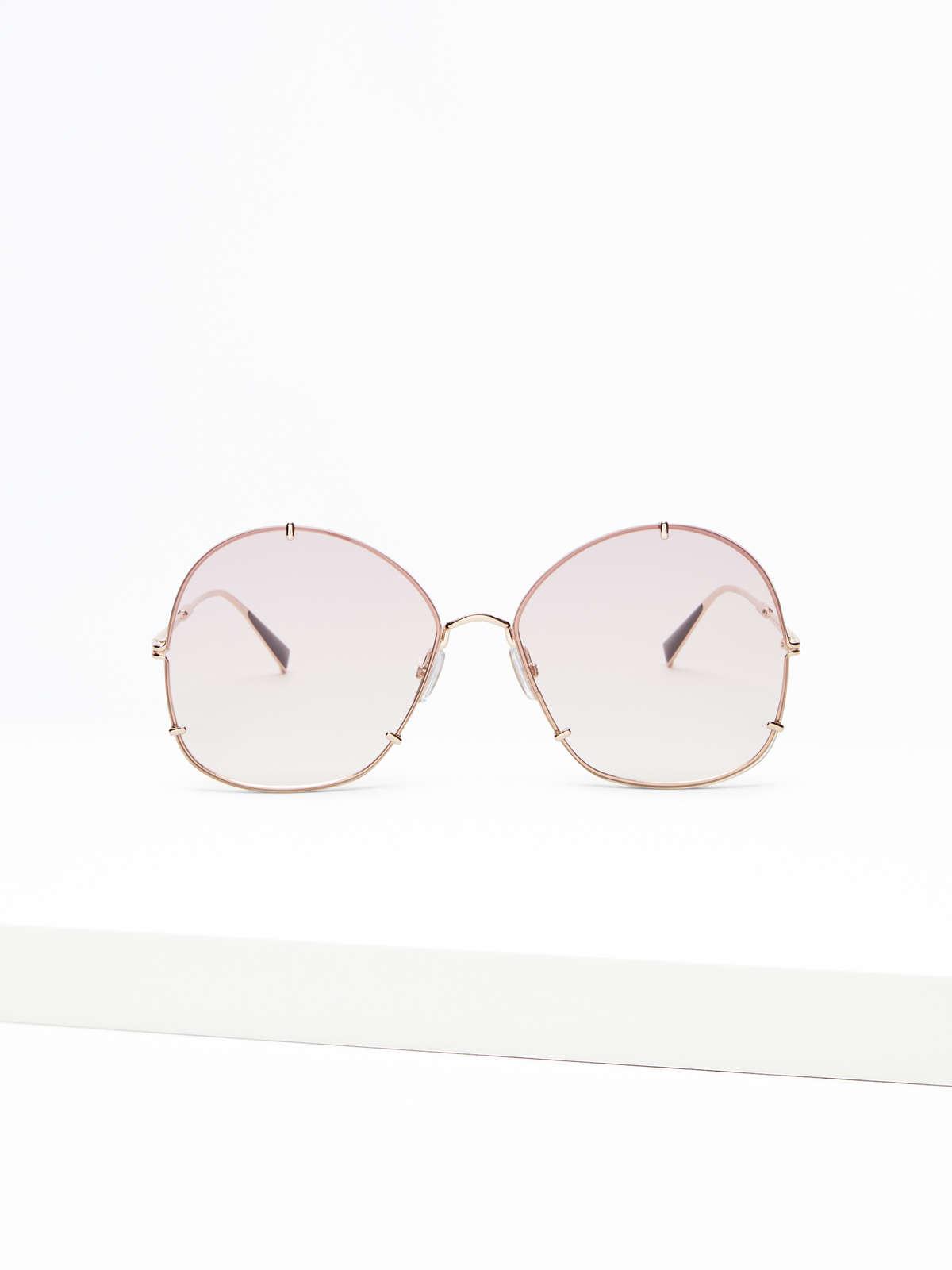 Max Mara - Runde Oversize-Sonnenbrille - 1