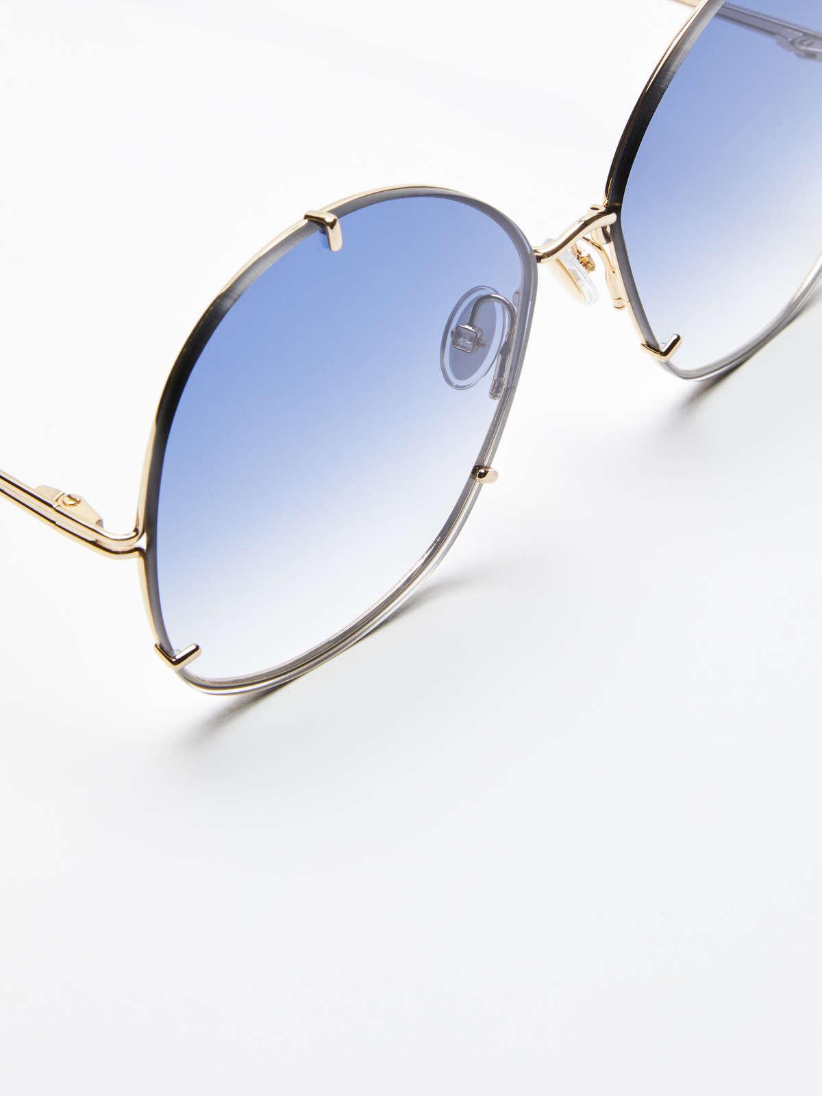 Max Mara - Runde Oversize-Sonnenbrille - 4
