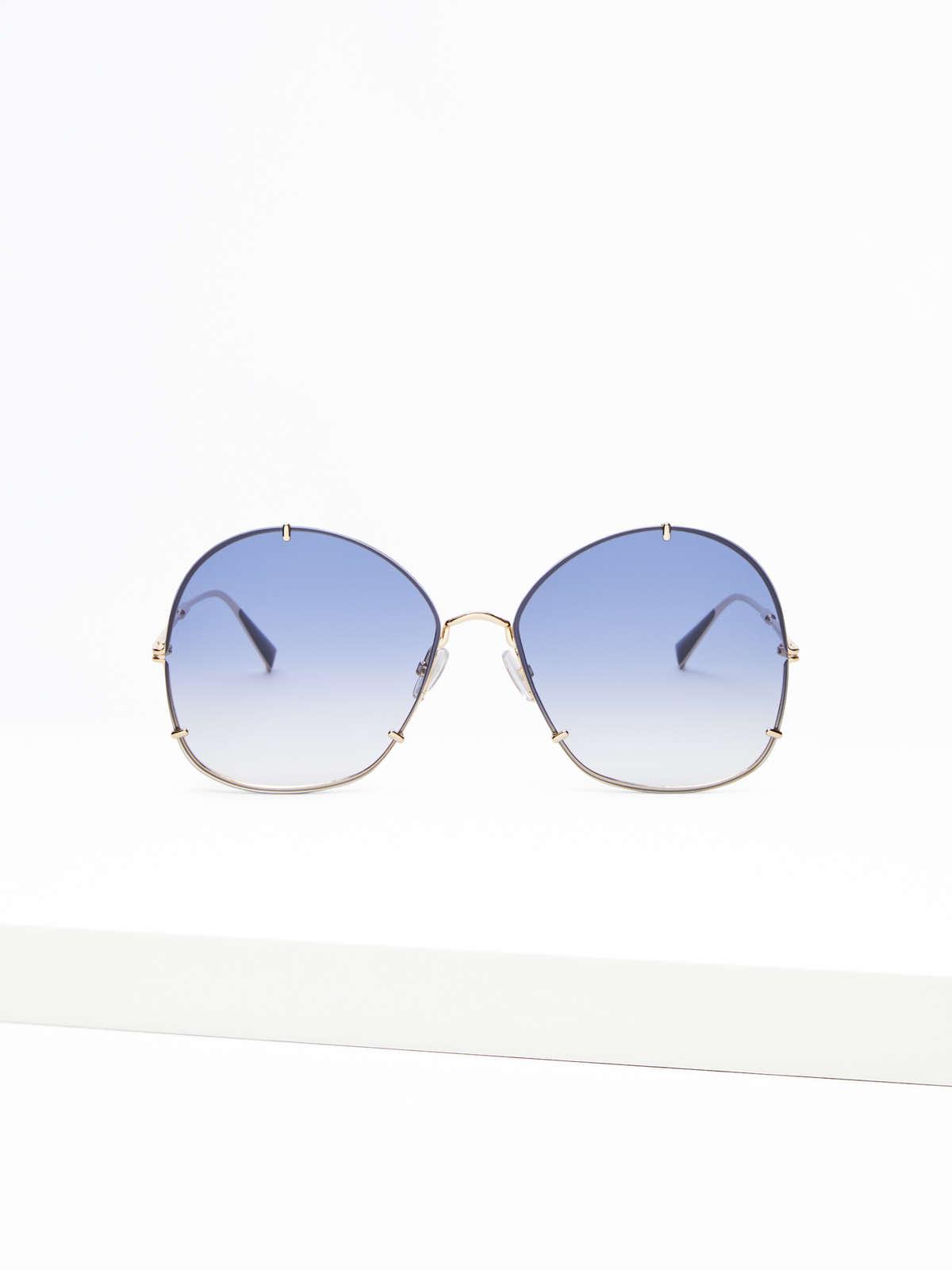 Max Mara - Runde Oversize-Sonnenbrille - 6