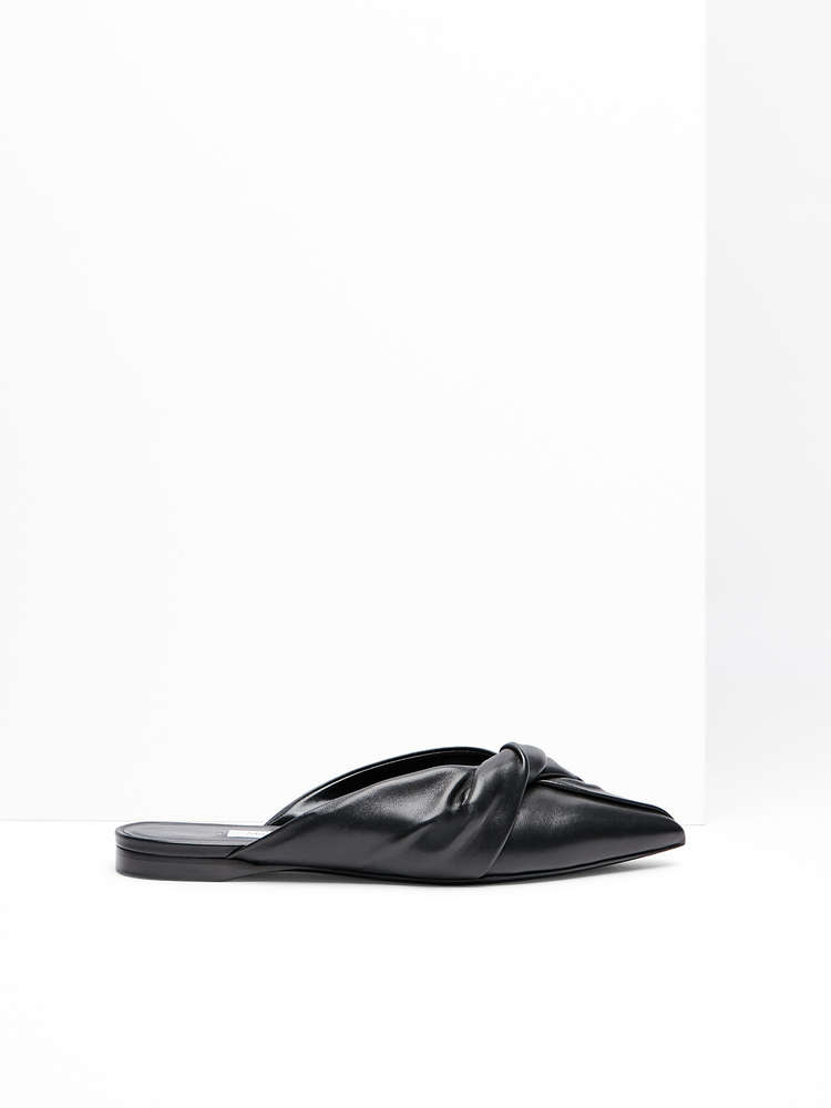 Nappa leather mules