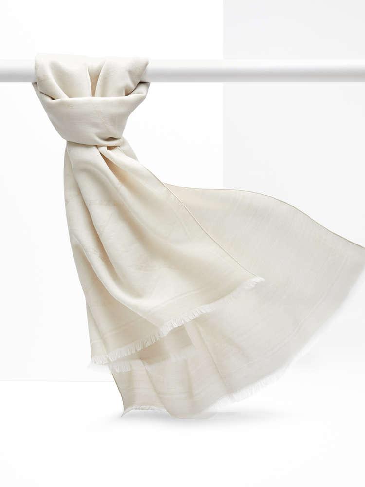 Wool, silk and cotton foulard