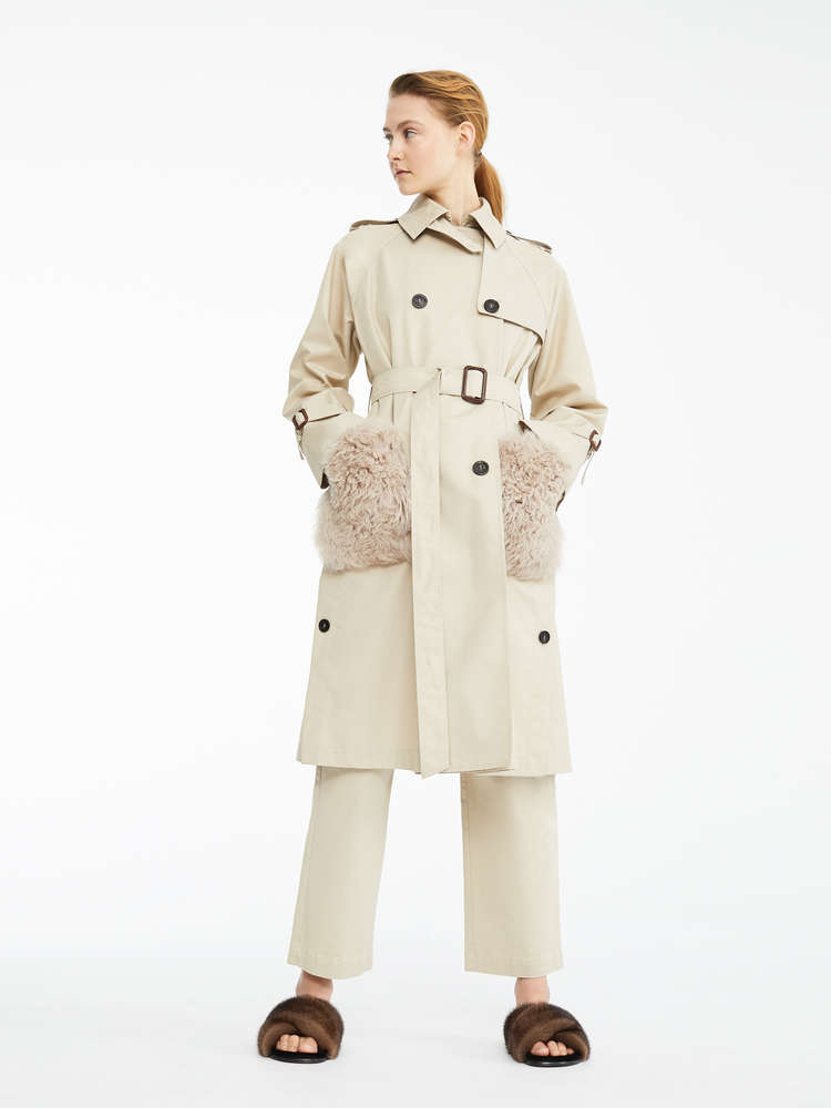 717ad0081af2 Water-repellent gabardine trench coat