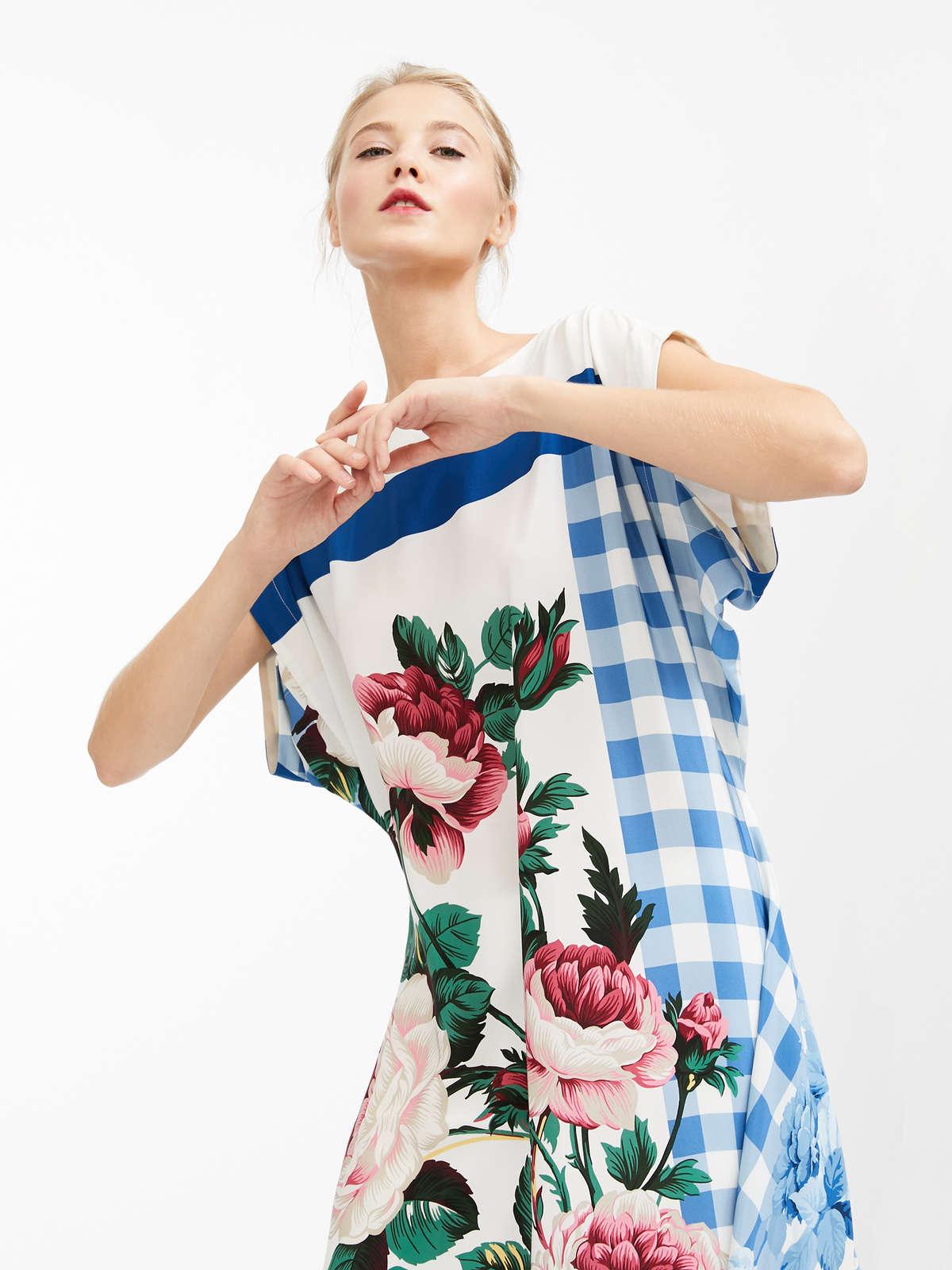93e9df305dfd Silk crepe de chine dress, white -