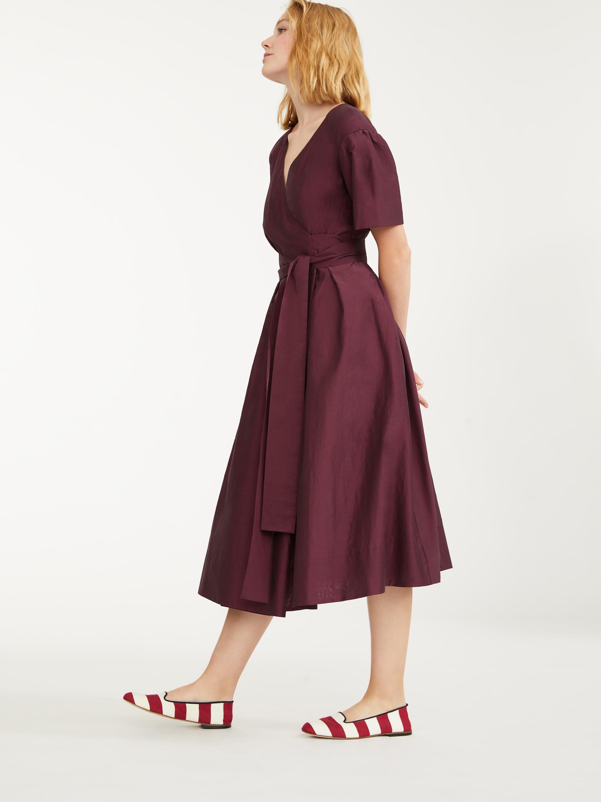 82d33147a5 Silk and linen canvas dress