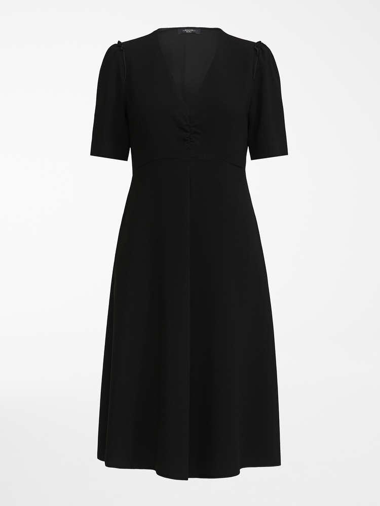 Silk Georgette Dress Navy Serra Max Mara