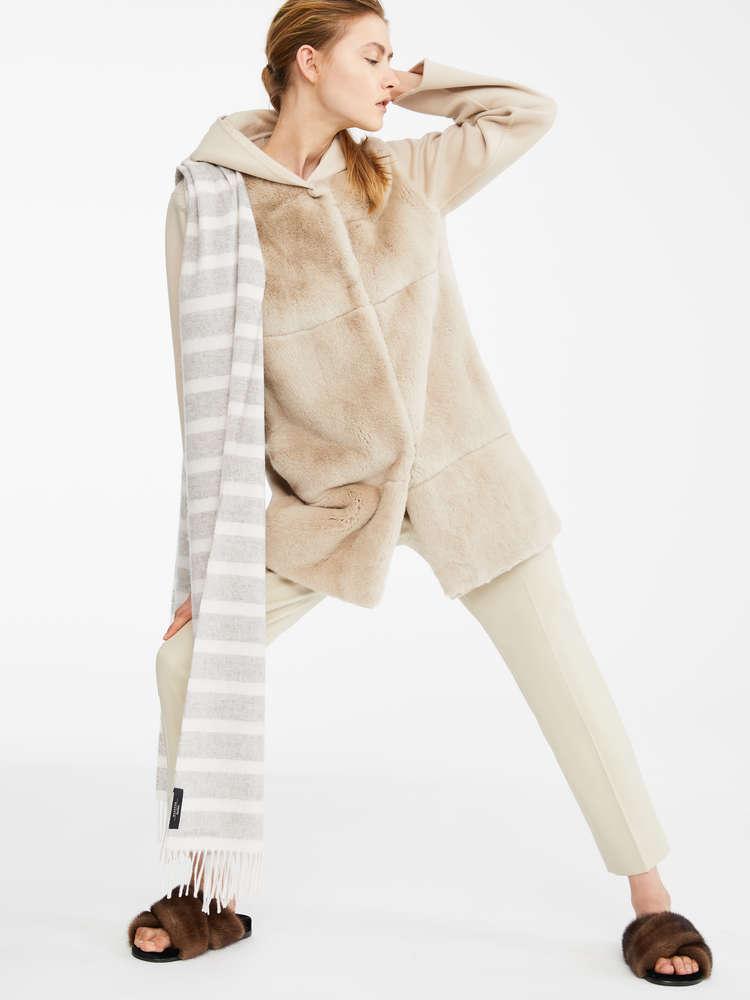 Manteau en lapin et laine
