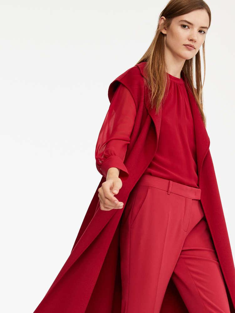 Blusa in georgette di seta