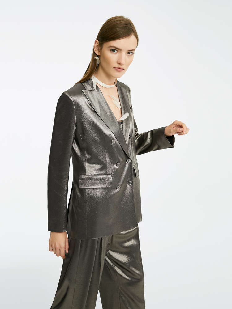Silk satin blazer