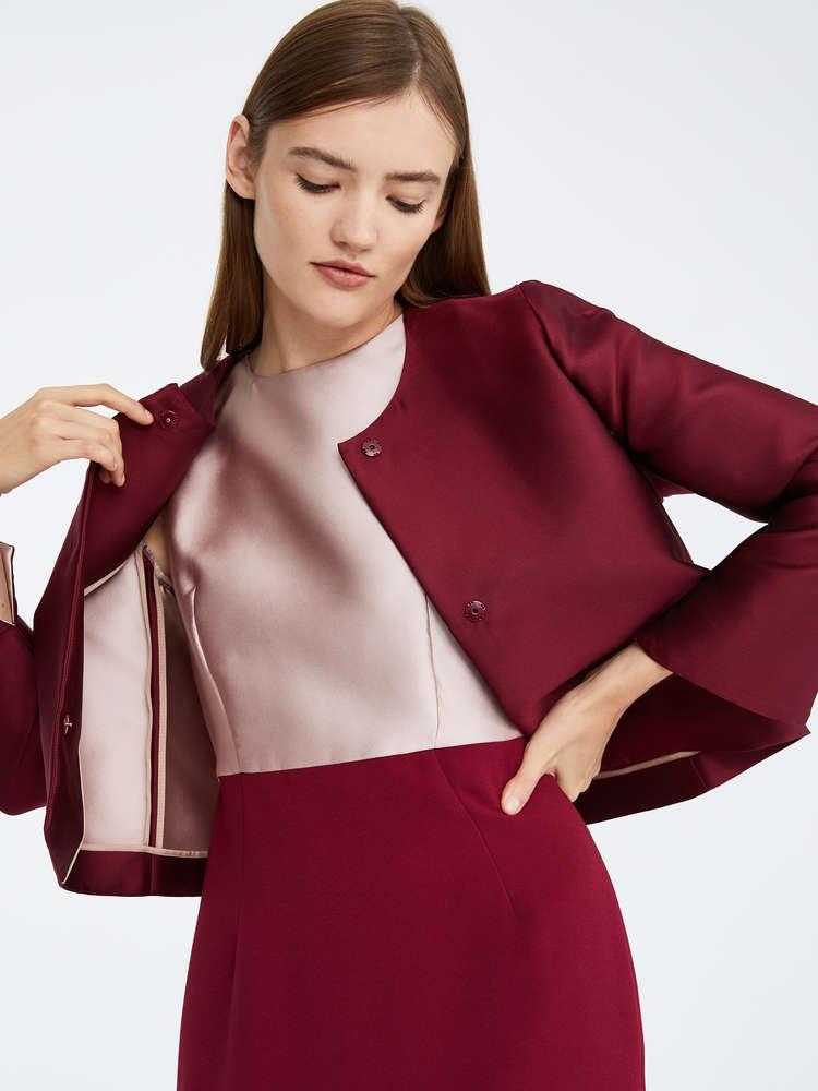 Silk duchess satin jacket