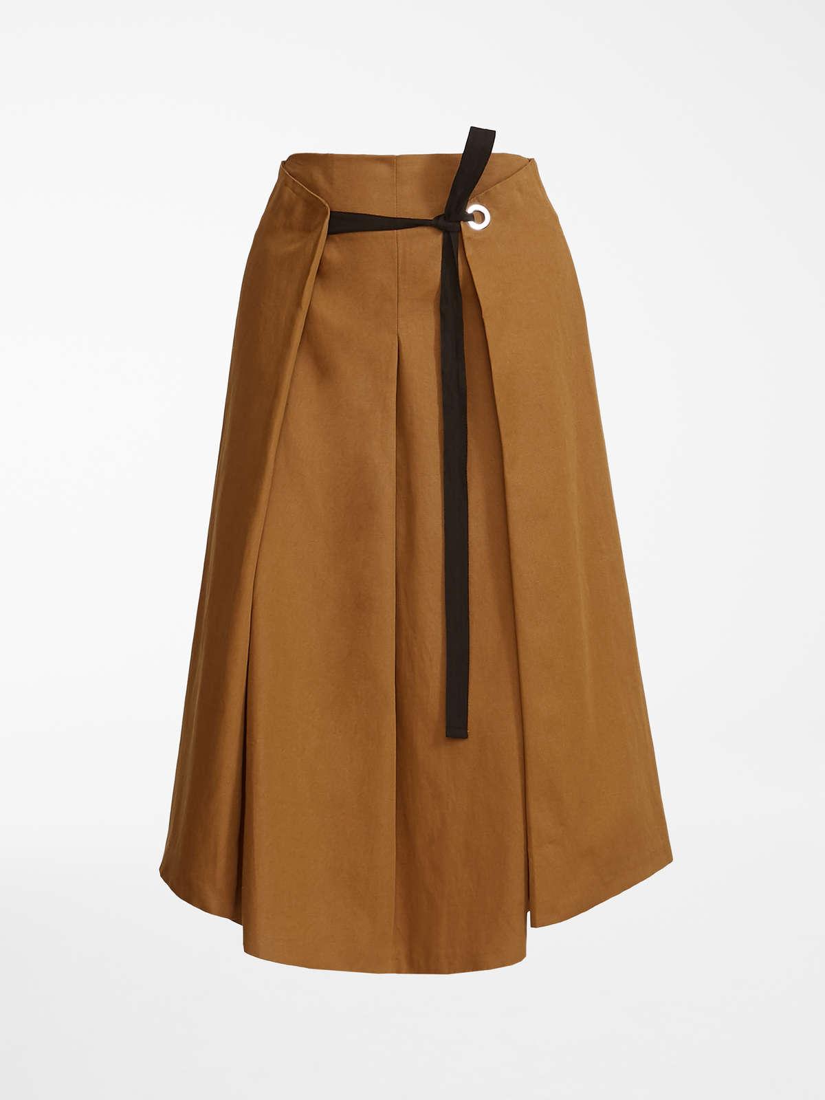 5582e69278 Falda en panamá de algodón y lino