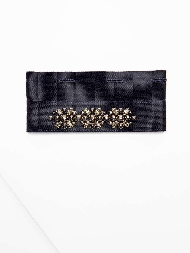 Embellished cuffs.