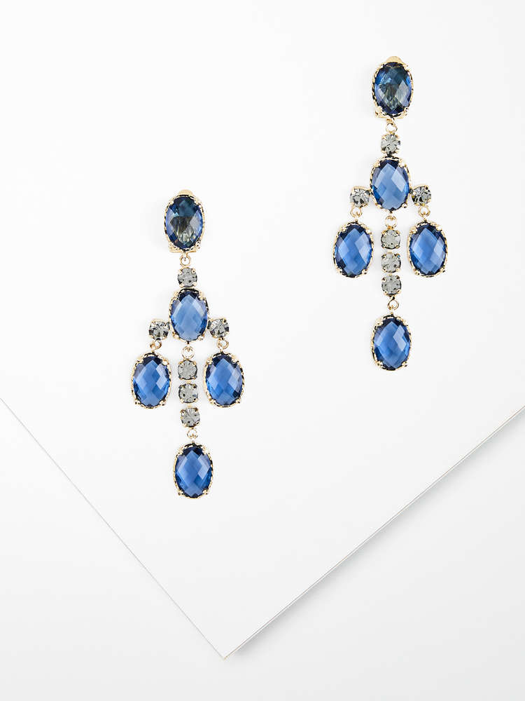 Chandelier earrings with crystals
