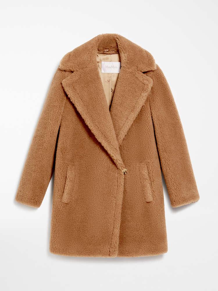 Camel and silk coat