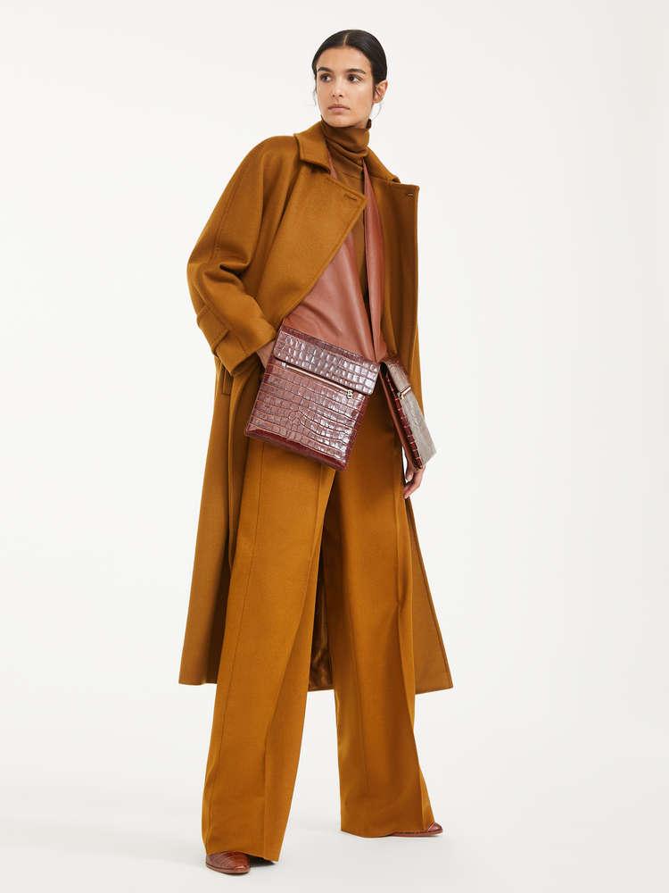 Manteau redingote femme camel
