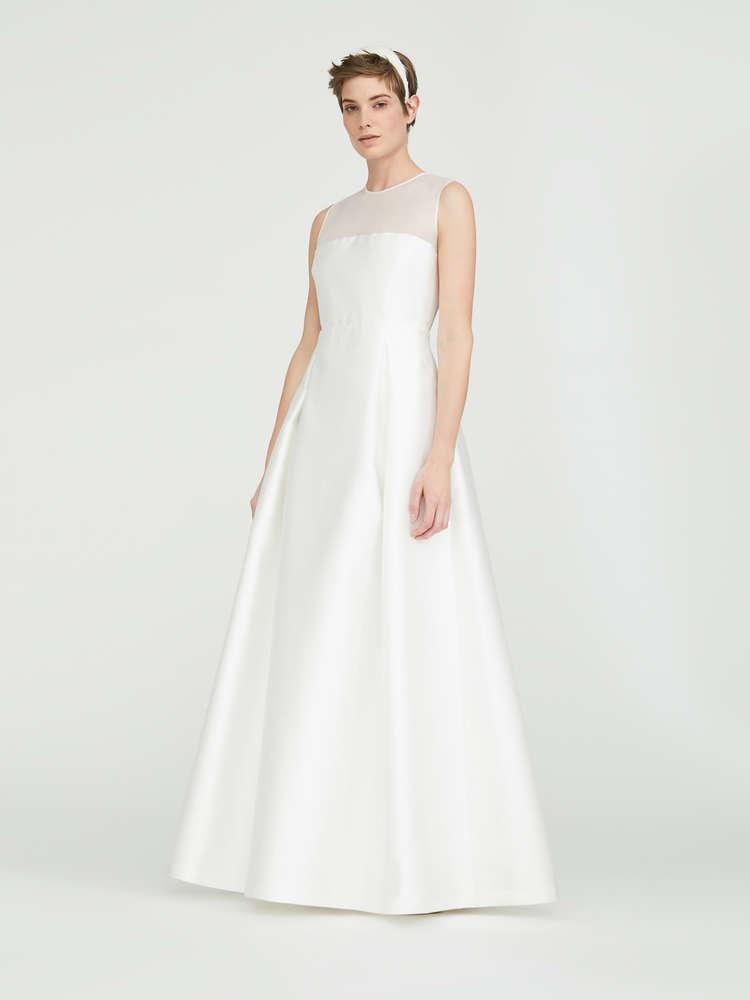 Silk organza and duchesse dress
