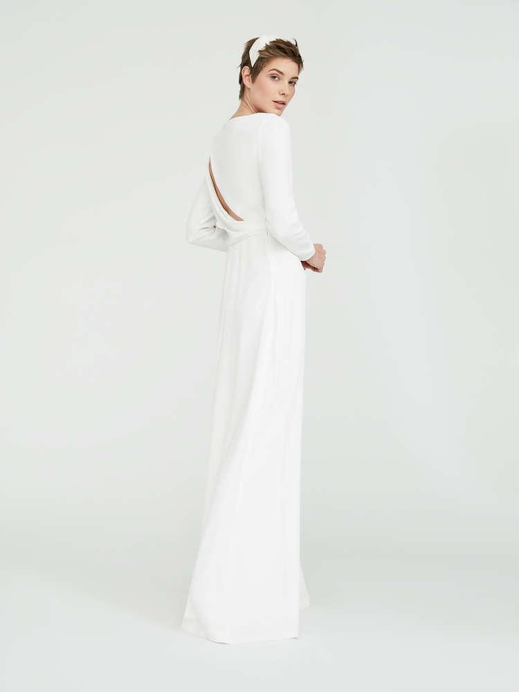 Envers satin crepe dress